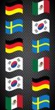 Futebol championship Bandeiras do vetor grupo F ilustração royalty free