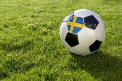Futebol com bandeira fotografia de stock royalty free