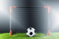 Futebol Conceito do campeonato com jogador de futebol imagens de stock royalty free