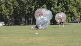 Futebol da bolha Foto de Stock