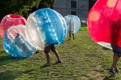 Futebol da bolha Fotos de Stock Royalty Free