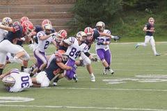Futebol da faculdade Foto de Stock
