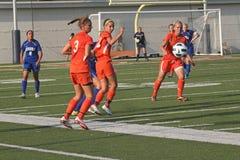 Futebol da faculdade das mulheres Imagens de Stock