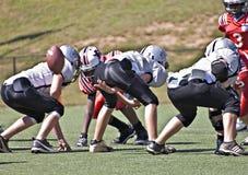 Futebol da liga júnior Fotos de Stock