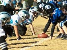 Futebol da liga júnior Fotografia de Stock Royalty Free