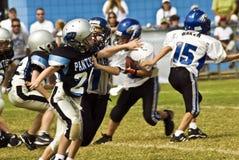 Futebol da liga júnior/obstrução Fotografia de Stock Royalty Free
