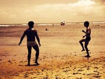 Futebol da praia Imagens de Stock