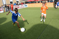 Futebol das crianças Imagens de Stock Royalty Free