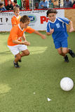 Futebol das crianças Fotografia de Stock Royalty Free