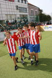 Futebol das crianças Fotos de Stock Royalty Free