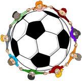 Futebol das crianças ilustração royalty free