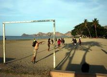FUTEBOL DAS MULHERES DA PRAIA DE ÁSIA TIMOR-LESTE TIMOR-LESTE DILI Foto de Stock