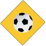 Futebol de América do sinal de estrada Imagem de Stock Royalty Free