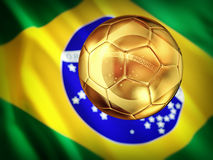 Futebol de Brasil ilustração royalty free