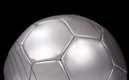 Futebol de prata imagem de stock royalty free