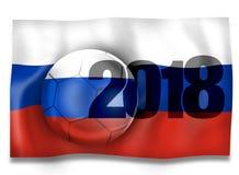 Futebol 2018 de Rússia Imagem de Stock
