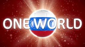 Futebol 2018 de Rússia Evento desportivo do mundo animação do vídeo 4K