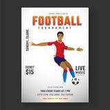 Futebol de retrocesso do jogador de futebol para o inseto o do competiam do futebol ilustração do vetor