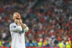 Futebol de Sergio Ramos imagem de stock