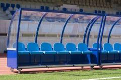 Futebol do banco Foto de Stock