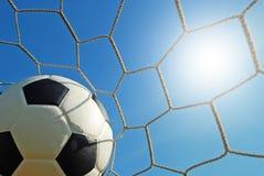 Futebol do campo de futebol Fotografia de Stock Royalty Free