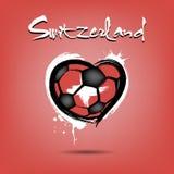 4527 - Futebol do coração de Dinamarca ilustração stock