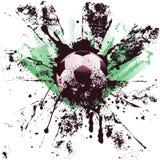 Futebol do Grunge Imagens de Stock Royalty Free