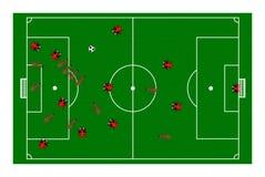 Futebol do joaninha da formiga Imagens de Stock