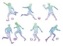 Futebol do jogo ilustração stock