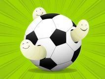 Futebol do jogo das larvas ilustração stock