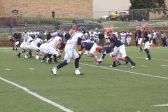 Futebol do NCAA DIV III da faculdade Imagem de Stock Royalty Free