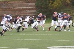 Futebol do NCAA DIV III da faculdade Foto de Stock