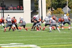 Futebol do NCAA DIV III da faculdade Imagem de Stock