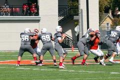 Futebol do NCAA DIV III da faculdade Fotos de Stock