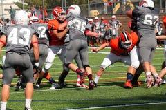Futebol do NCAA DIV III da faculdade Imagens de Stock Royalty Free