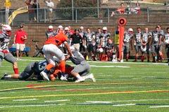 Futebol do NCAA DIV III da faculdade Fotos de Stock Royalty Free