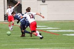 Futebol do NCAA DIV III Men's da faculdade Imagem de Stock Royalty Free