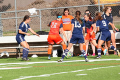 Futebol do NCAA DIV III Women's da faculdade Foto de Stock