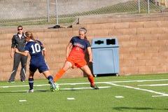 Futebol do NCAA DIV III Women's da faculdade Fotografia de Stock Royalty Free
