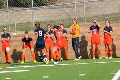 Futebol do NCAA DIV III Women's da faculdade Imagens de Stock Royalty Free