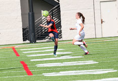 Futebol do NCAA DIV III Women's da faculdade Imagem de Stock Royalty Free