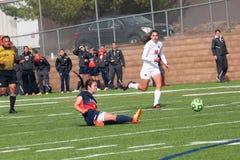 Futebol do NCAA DIV III Women's da faculdade Imagem de Stock