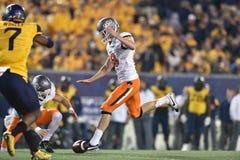 2015 futebol do NCAA - estado de Oklahoma em West Virginia Fotos de Stock Royalty Free