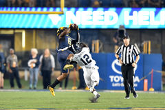 2015 futebol do NCAA - GA @ WVU do sul Fotos de Stock