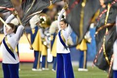 2015 futebol do NCAA - GA @ WVU do sul Foto de Stock Royalty Free