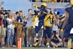 2015 futebol do NCAA - GA @ WVU do sul Imagem de Stock Royalty Free