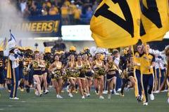 2015 futebol do NCAA - GA @ WVU do sul Imagens de Stock