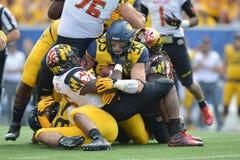 2015 futebol do NCAA - Maryland @ WVU Foto de Stock Royalty Free