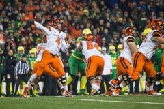 Futebol do NCAA - Oregon no estado de Oregon Imagem de Stock Royalty Free