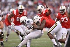 2015 futebol do NCAA - Penn State contra maryland Imagem de Stock Royalty Free